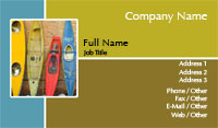 Kayaks Business Card Template